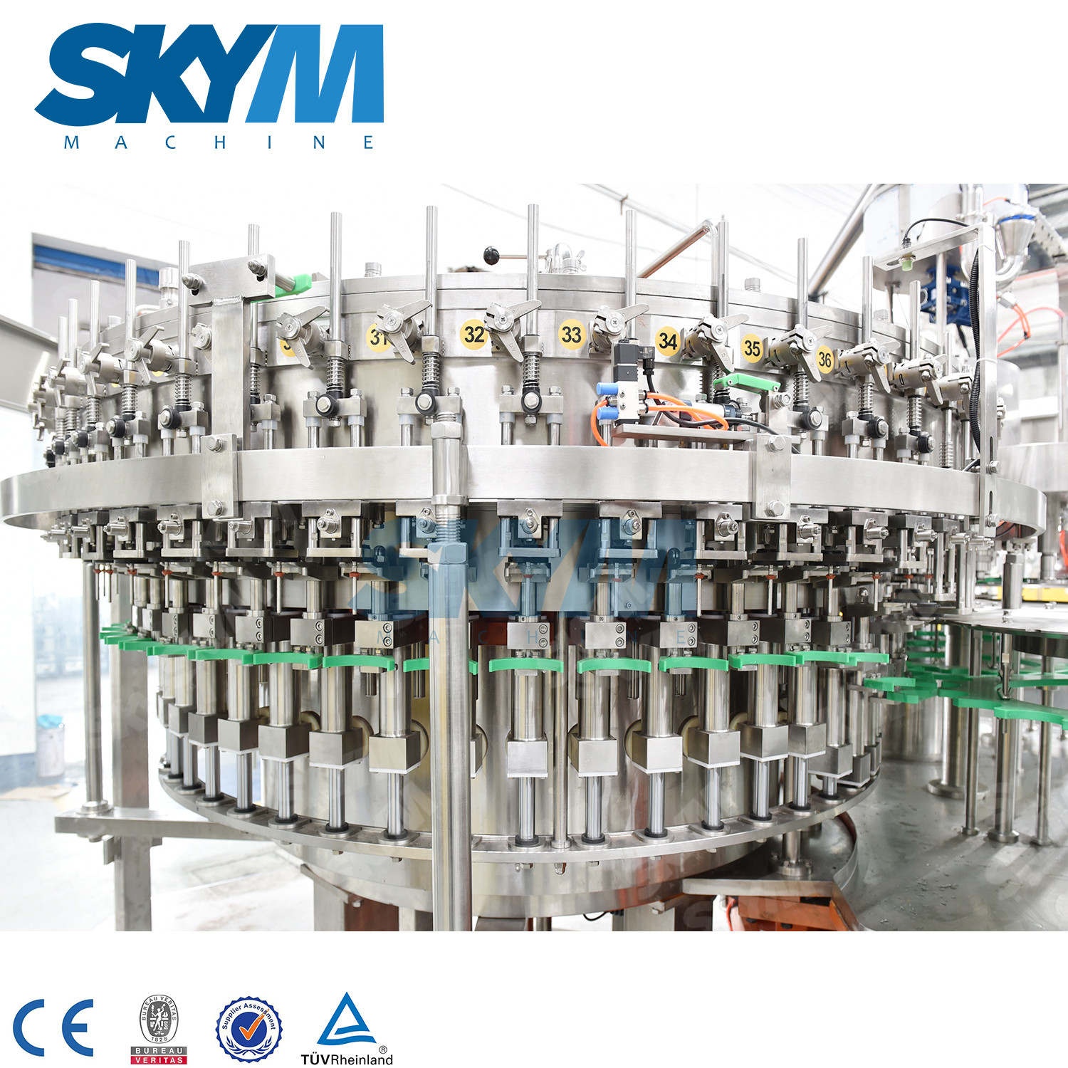 Automatic Carbonated Drink 3 in 1 Filling Machine