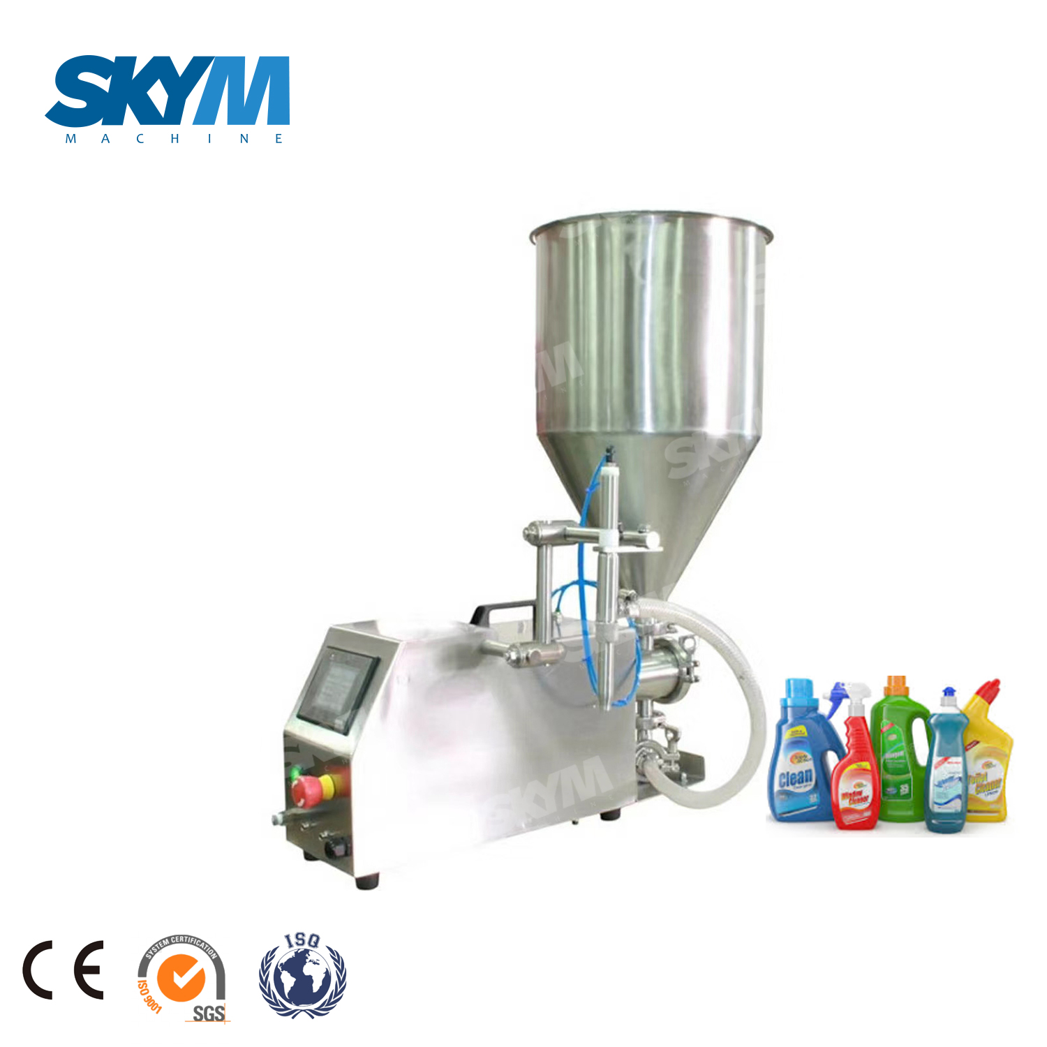 Industrial Detergent in Plastic Or Glass Containers Semi-auto Filling Machine