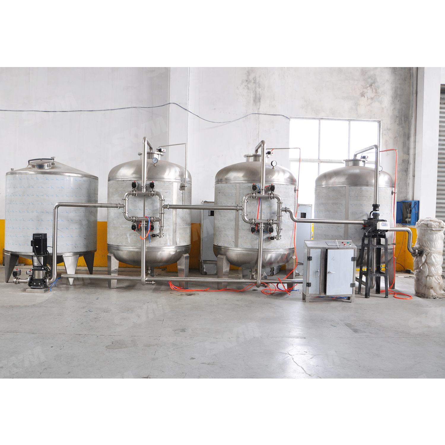 20t Automatic Activated Carbon Column Water Treatment Machine